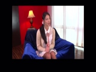Masked Oriental nympho drops to her knees and worships a bi