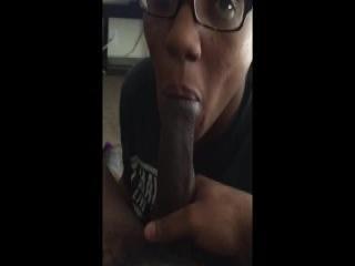 Trashy femme gives a hard handjob