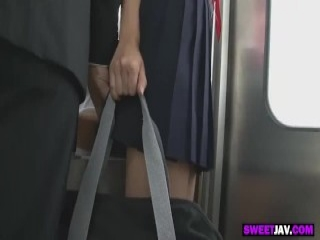 Seductive Asian babe flaunts her marvelous ass and enjoys a