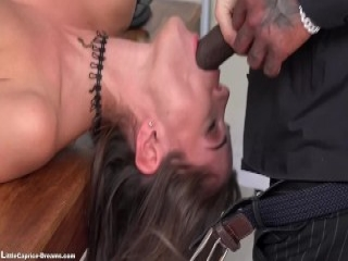 Bigtitted lesbian in stockings pussylicked