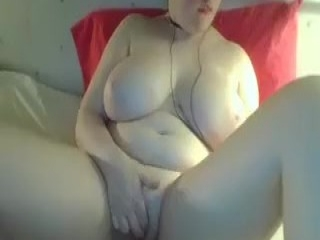 Bigtitted mature tugging and sucking cock pov