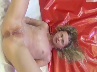 Busty Brunette Rose Sucks A Big Cock